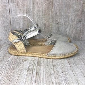 Sperry Top Sider Silver and Cream Espadrille Shoes